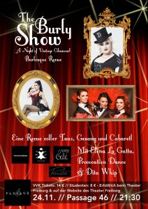The Burly Show - A Night Of Vintage Glamour am 24 November in Freiburg